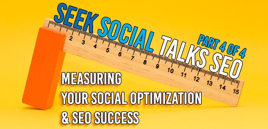 "An image of a ruler balancing on a rubber with some text reading ""measuring your social optimisation and SEO success"""