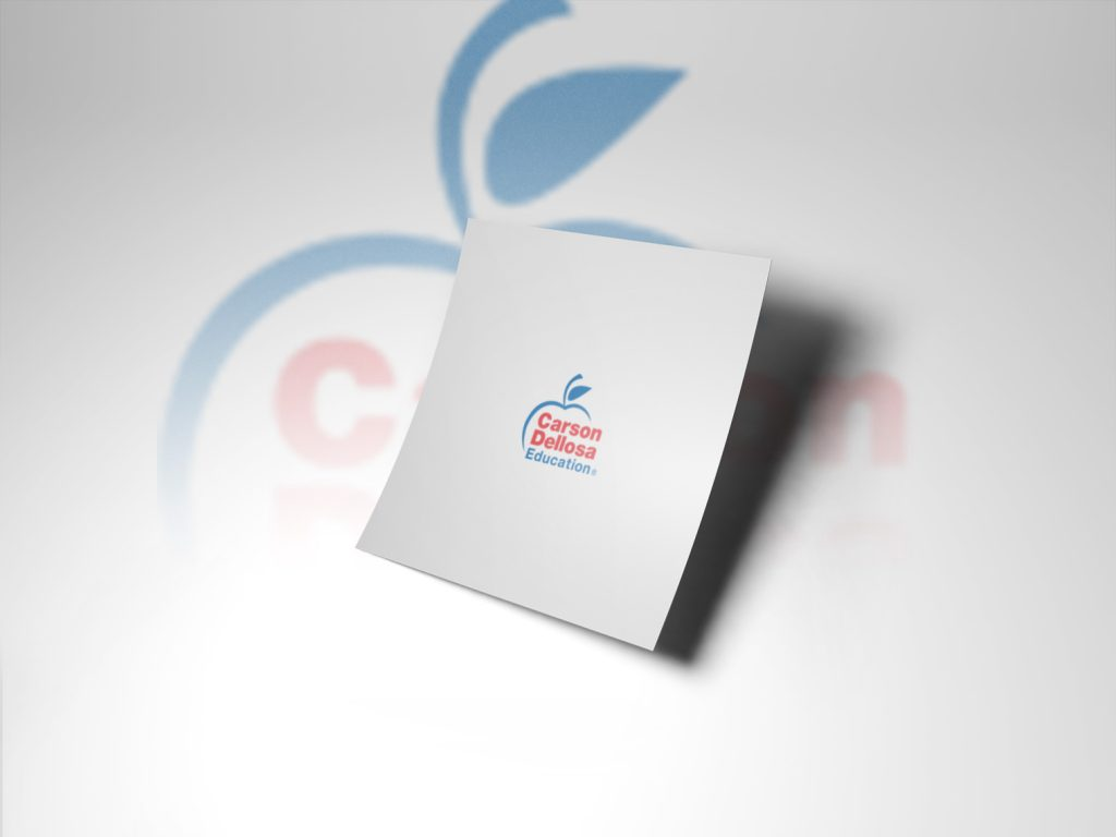 An image of a white piece of paper with the carsond dellrosa logo in the middle