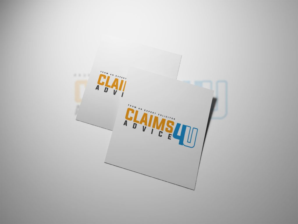 An image of two white papers with both showing the Claims 4U logo