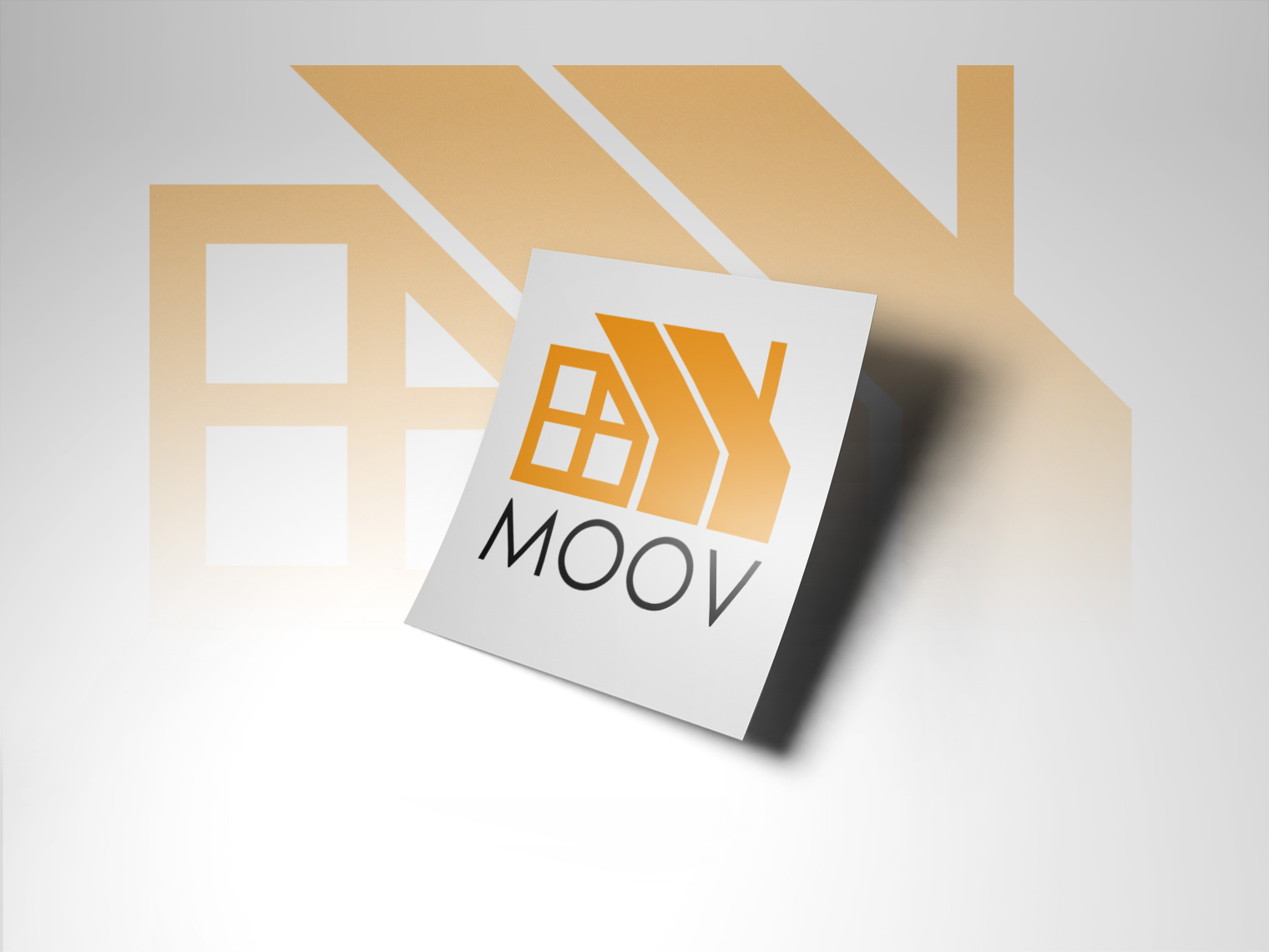 An image of a white piece of paper with the moovhomes logo