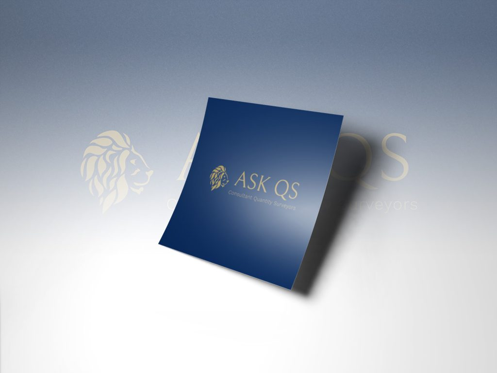 An image of a dark blue piece of paper with the Ask QS logo