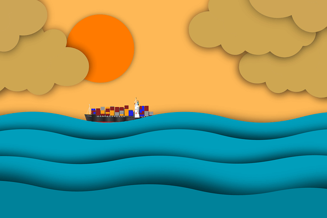 graphic designers to create colorful visuals of a ship