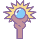 mage staff icon with transparent background