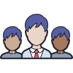 management team icon with transparent background