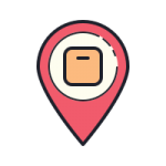 accurate tracking icon with transparent background