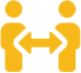two people icon with transparent background