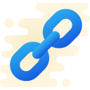 hyperlink icon with transparent background