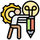driven ideas icon with transparent background