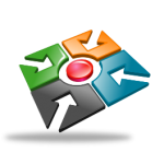 business centre icon with transparent background